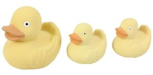 Real Rubber Duck Family - Natural